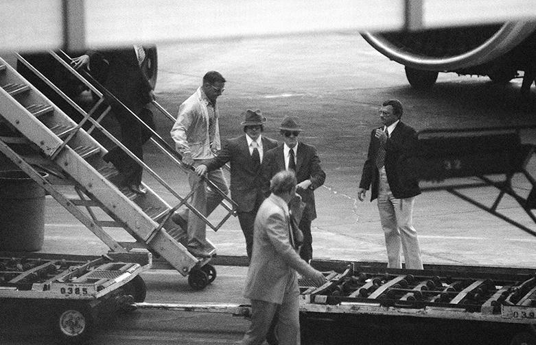 Belenko arrives in Los Angeles on September 9, 1976.