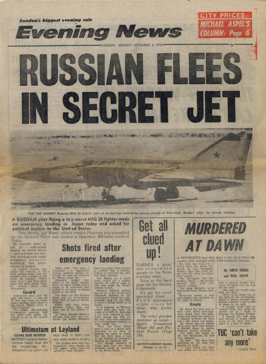 The Soviet pilot's defection was big news